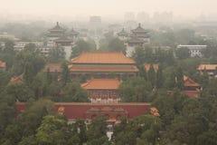 Vue d'oeil d'oiseau de Pékin Photographie stock libre de droits