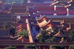 Vue d'oeil d'oiseau de Pékin le palais impérial photo stock
