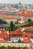 Vue d'oeil d'oiseau de Prague Images libres de droits