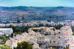 Vue d'oeil d'oiseau de Shomron Mountains Images stock