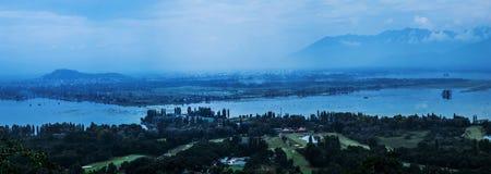 Vue d'oeil d'oiseau de Srinagar photo libre de droits