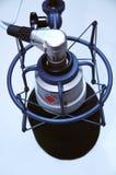 Vue d'oeil d'oiseaux de microphone de studio Image stock