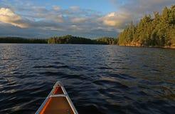 Vue d'oeil de canoës photographie stock libre de droits