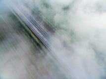 Vue d'oeil du ` s d'oiseau de route au-dessus des nuages 01 photo stock