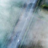 Vue d'oeil du ` s d'oiseau de route au-dessus des nuages 03 photographie stock libre de droits