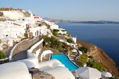 Vue d'Oia d'île de Santorini Photographie stock libre de droits