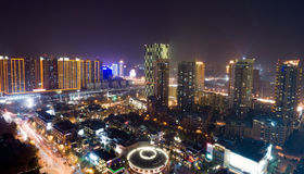 Vue d'oiseau à Wuhan Chine Images stock