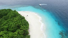 Vue d'oiseau d'île des Maldives Images libres de droits