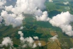 Vue d'oiseau d'aéronefs des zones vertes Image libre de droits