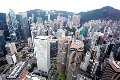 Vue d'oiseau de Hong Kong, Chian Photo stock
