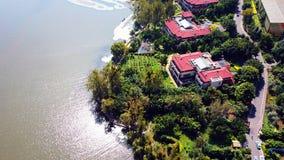 Vue d'oiseau de lac Qionghai dans le ¼ ŒChina de Xichangï Images libres de droits