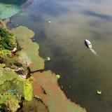 Vue d'oiseau de lac Qionghai dans le ¼ ŒChina de Xichangï Photos libres de droits
