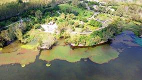Vue d'oiseau de lac Qionghai dans le ¼ ŒChina de Xichangï Image libre de droits