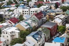 Vue d'oiseau de Reykjavik du centre Photo libre de droits