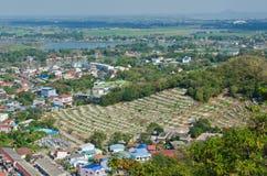 Vue d'oiseau de ville de Nakhonsawan Image stock
