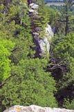 Vue d'oiseau-oeil de roche de Gibralter Images stock