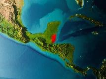 Vue d'orbite de Belize photos stock