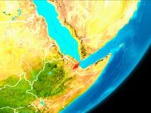 Vue d'orbite de Djibouti illustration stock