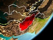 Vue d'orbite de l'Afghanistan Photographie stock