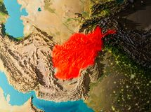 Vue d'orbite de l'Afghanistan Illustration de Vecteur