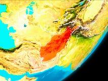 Vue d'orbite de l'Afghanistan Image libre de droits