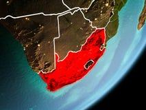 Vue d'orbite de l'Afrique du Sud photographie stock libre de droits