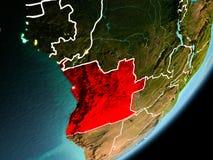 Vue d'orbite de l'Angola illustration libre de droits