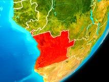Vue d'orbite de l'Angola illustration de vecteur