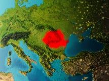 Vue d'orbite de la Roumanie Images libres de droits