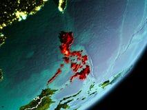 Vue d'orbite de Philippines Image stock