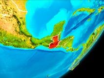 Vue d'orbite du Guatemala Image libre de droits