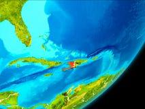 Vue d'orbite du Haïti Photographie stock libre de droits