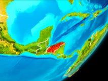 Vue d'orbite du Honduras Image stock