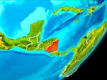 Vue d'orbite du Nicaragua Photo libre de droits