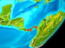 Vue d'orbite du Panama Images stock