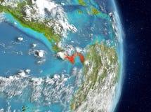 Vue d'orbite du Panama en rouge Photos libres de droits