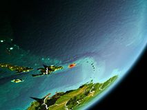 Vue d'orbite du Porto Rico Photo stock