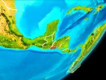 Vue d'orbite du Salvador Photos stock