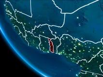 Vue d'orbite du Togo la nuit Photographie stock