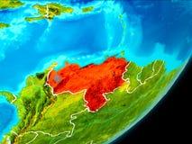 Vue d'orbite du Venezuela Photos libres de droits
