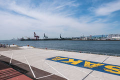 Vue d'Osaka Bay de marché de Tempozan images stock