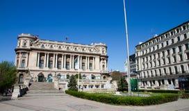 Vue d'UcBucharest - palais national d'armée Images stock