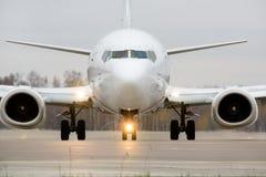 Vue d'un aéronef préparant pour décoller Photographie stock libre de droits