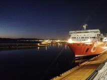 Vue d'un bateau de touristes Photos libres de droits