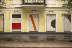 Vue d'un beaux extérieur et Front Door Seen de Chambre sur une rue de Londres Image stock