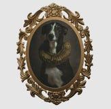 Vue d'un chien dans le style de la Renaissance illustration stock