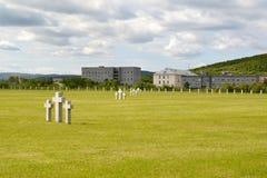 Vue d'un cimetière commémoratif Russe-allemand La Russie photos libres de droits