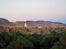 Vue d'un Kasbah au Maroc Photographie stock libre de droits