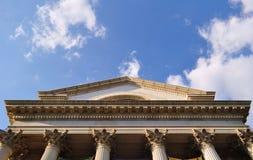 vue d'un style du bâtiment antique images libres de droits