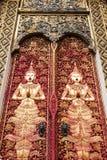 Vue d'un Viharn et d'un Stupa au temple bouddhiste historique de Wa Image libre de droits